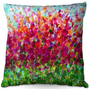 Throw Pillows Decorative Artistic | Kathy Stanion - Color Pop | Nature Abstract Landscape Flowers