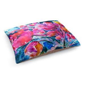 Decorative Dog Pet Beds | Kathy Stanion Colorful Blooms