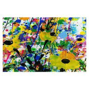 Decorative Floor Covering Mats | Kathy Stanion - Deep in the Meadow 13 | Nature Abstract Landscape Flowers