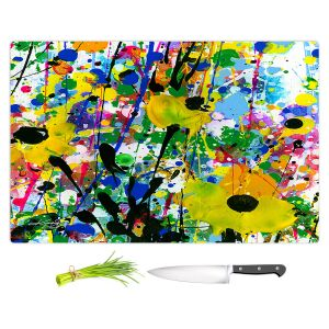 Artistic Kitchen Bar Cutting Boards | Kathy Stanion - Deep in the Meadow 13 | Nature Abstract Landscape Flowers