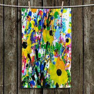 Unique Hanging Tea Towels | Kathy Stanion - Deep in the Meadow 13 | Nature Abstract Landscape Flowers