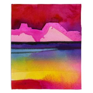 Artistic Sherpa Pile Blankets | Kathy Stanion - Desert Dreams IV
