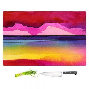 Artistic Kitchen Bar Cutting Boards | Kathy Stanion - Desert Dreams IV