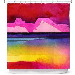 Premium Shower Curtains | Kathy Stanion - Desert Dreams IV