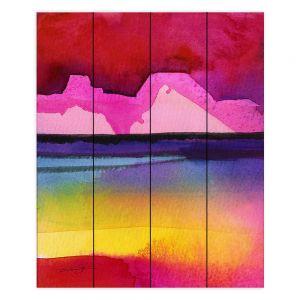 Decorative Wood Plank Wall Art   Kathy Stanion - Desert Dreams IV