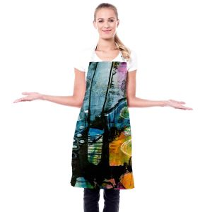 Artistic Bakers Aprons | Kathy Stanion - Dream Travel 01 | abstract shape pattern