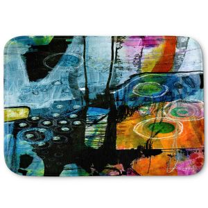Decorative Bathroom Mats | Kathy Stanion - Dream Travel 01 | abstract shape pattern