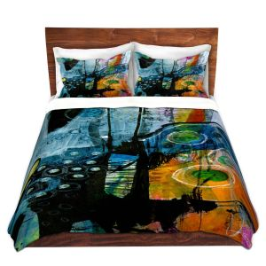 Artistic Duvet Covers and Shams Bedding | Kathy Stanion - Dream Travel 01 | abstract shape pattern