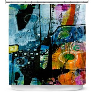 Premium Shower Curtains | Kathy Stanion - Dream Travel 01 | abstract shape pattern