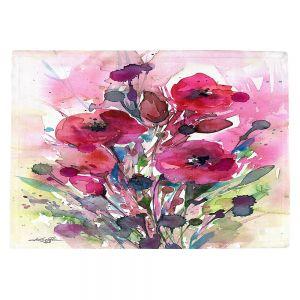 Countertop Place Mats   Kathy Stanion - Floral Dreams 08   watercolor flower