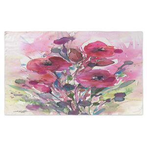 Artistic Pashmina Scarf | Kathy Stanion - Floral Dreams 08 | watercolor flower