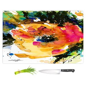 Artistic Kitchen Bar Cutting Boards | Kathy Stanion - Floral Enchantment 11 | Nature Abstract Landscape Flowers