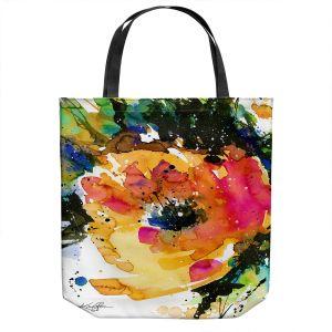 Unique Shoulder Bag Tote Bags | Kathy Stanion - Floral Enchantment 11 | Nature Abstract Landscape Flowers