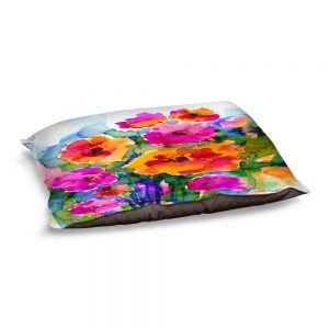 Decorative Dog Pet Beds | Kathy Stanion - Floral Enchantment 17 | Nature Abstract Landscape Flowers
