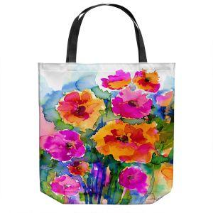 Unique Shoulder Bag Tote Bags   Kathy Stanion - Floral Enchantment 17   Nature Abstract Landscape Flowers