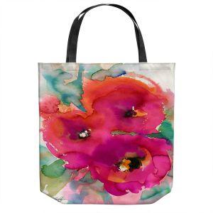 Unique Shoulder Bag Tote Bags | Kathy Stanion - Floral Enchantment 26 | Nature Abstract Landscape Flowers
