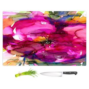 Artistic Kitchen Bar Cutting Boards | Kathy Stanion - Floral Enchantment 8 | Nature Abstract Landscape Flowers