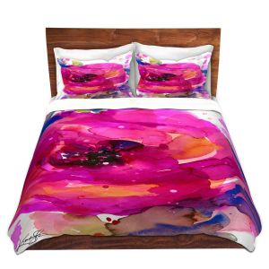 Artistic Duvet Covers and Shams Bedding | Kathy Stanion - Floral Enchantment 9 | Nature Abstract Landscape Flowers