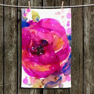 Unique Hanging Tea Towels | Kathy Stanion - Floral Enchantment 9 | Nature Abstract Landscape Flowers