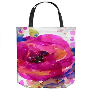 Unique Shoulder Bag Tote Bags | Kathy Stanion - Floral Enchantment 9 | Nature Abstract Landscape Flowers