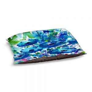 Decorative Dog Pet Beds | Kathy Stanion - Flowers from the Heart 3 | Nature Abstract Landscape Flowers