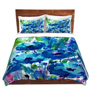 Artistic Duvet Covers and Shams Bedding | Kathy Stanion - Flowers from the Heart 3 | Nature Abstract Landscape Flowers