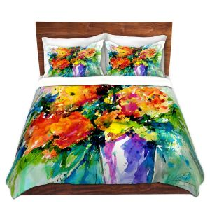 Artistic Duvet Covers and Shams Bedding   Kathy Stanion - Flowers in Vase 2   Nature Flowers Plants Still Life