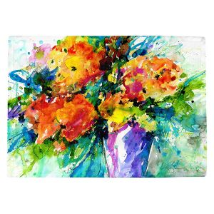 Countertop Place Mats   Kathy Stanion - Flowers in Vase 2   Nature Flowers Plants Still Life