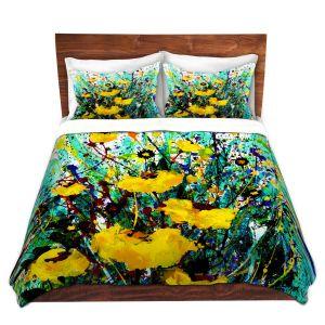 Artistic Duvet Covers and Shams Bedding | Kathy Stanion - Golden Beauty | Nature Flower