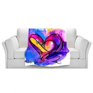 Artistic Sherpa Pile Blankets | Kathy Stanion Heart Dance
