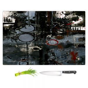 Artistic Kitchen Bar Cutting Boards   Kathy Stanion - Into the Grunge   abstract shapes dark