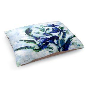 Decorative Dog Pet Beds | Kathy Stanion - Iris | watercolor flower