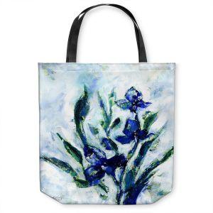 Unique Shoulder Bag Tote Bags | Kathy Stanion - Iris | watercolor flower