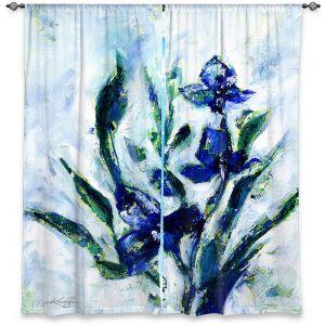 Decorative Window Treatments | Kathy Stanion - Iris | watercolor flower