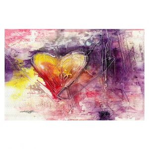 Decorative Floor Covering Mats | Kathy Stanion - Journey of the Heart 3 | shape love abstract dark