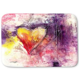 Decorative Bathroom Mats | Kathy Stanion - Journey of the Heart 3 | shape love abstract dark