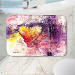 Decorative Bathroom Mats | Kathy Stanion - Journey of the Heart 3 | shape love abstract dark