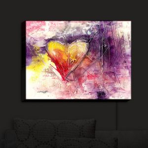 Nightlight Sconce Canvas Light | Kathy Stanion - Journey of the Heart 3 | shape love abstract dark