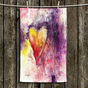 Unique Hanging Tea Towels | Kathy Stanion - Journey of the Heart 3 | shape love abstract dark