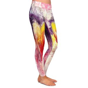 Casual Comfortable Leggings | Kathy Stanion - Journey of the Heart 3 | shape love abstract dark