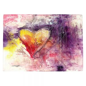 Countertop Place Mats | Kathy Stanion - Journey of the Heart 3 | shape love abstract dark