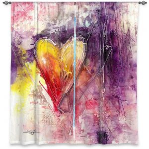 Decorative Window Treatments | Kathy Stanion - Journey of the Heart 3 | shape love abstract dark