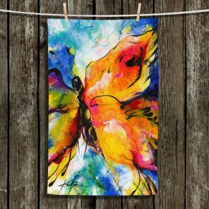 Unique Hanging Tea Towels | Kathy Stanion - Joyful Ecstascy II | Butterflies Whimsical