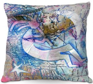 Decorative Outdoor Patio Pillow Cushion | Kathy Stanion - Kokopelli Spirit Dreams