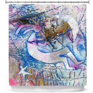 Premium Shower Curtains | Kathy Stanion - Kokopelli Spirit Dreams