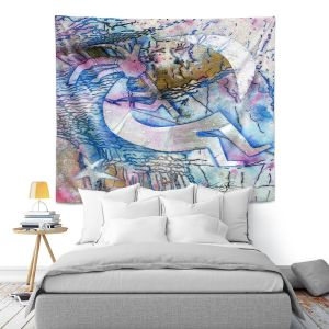 Artistic Wall Tapestry | Kathy Stanion - Kokopelli Spirit Dreams