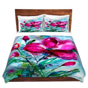 Artistic Duvet Covers and Shams Bedding   Kathy Stanion - Magenta Joy   Nature Flowers