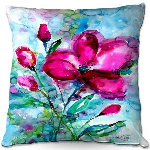 Throw Pillows Decorative Artistic | Kathy Stanion - Magenta Joy | Nature Flowers