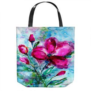Unique Shoulder Bag Tote Bags   Kathy Stanion - Magenta Joy   Nature Flowers