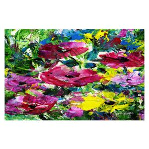 Decorative Floor Covering Mats | Kathy Stanion - Meadow Dreams 46 | Nature Flowers